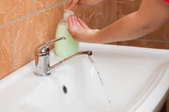 Washing Hands. Cleaning Hands. Hygiene Royalty Free Stock Photography