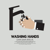 Washing Hands With Faucet Royalty Free Stock Photo