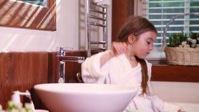 Washing hands - good habit stock footage