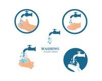 washing hands logo icon vector design vector illustration