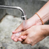Washing of hands Stock Photo