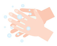 Washing hands with soap. hand hygiene. Washing hands with soap. cleaning hands vector illustration
