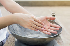 Washing of hands Stock Photo