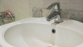Washing hands stock video