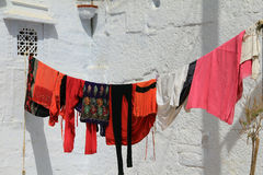 Washing hanging on a line Stock Image