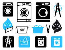 Washing icons Royalty Free Stock Image