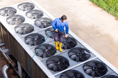 Washing the industrial premises Royalty Free Stock Images