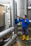 Washing. Industrial premises in a working site Stock Photo