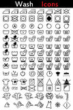 Washing instruction icons Royalty Free Stock Images