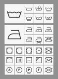 Washing instruction symbols Stock Images