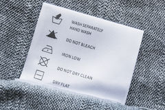 Washing instructions Stock Photography