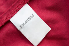 Washing instructions label Royalty Free Stock Images