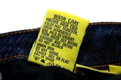 Washing Jeans Instructions Royalty Free Stock Photo