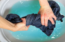 Washing jeans Royalty Free Stock Photos