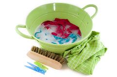 Washing the laundry Royalty Free Stock Images