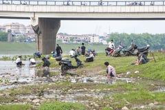 Washing at Li-River, Guilin, China Stock Image
