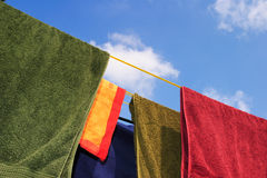 Washing line royalty free stock images