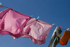 Washing On Line Royalty Free Stock Photography
