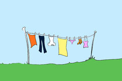 Washing line female Stock Photography