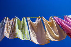 Washing line Stock Photo