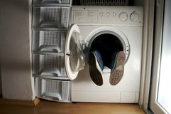 Washing machine 2. Somebody made a big mistake Royalty Free Stock Photography