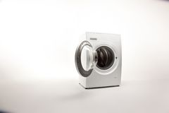 Washing machine. In bright room Stock Images