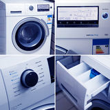 Washing machine. A new drum washing machine Royalty Free Stock Image