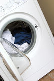 Washing machine. Open and ready for loading Royalty Free Stock Photos