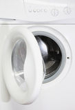 Washing machine. With open door Stock Photography