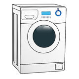 Washing machine. Color illustration of the washing machine on white background Stock Photography