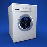Washing machine. Fine image 3d of classic washing machine background Stock Photos