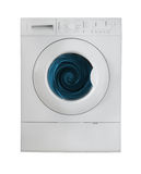 Washing machine. Run wash clothes. isolated background Royalty Free Stock Images
