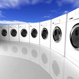 Washing machine background Stock Photo