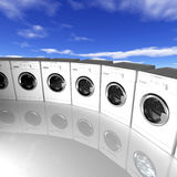 Washing machine background Royalty Free Stock Images