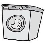 Washing machine. Cartoon doodle  on white Stock Photography
