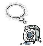 Washing machine-100. Cartoon image of washing machine. An artistic freehand picture Royalty Free Stock Photos