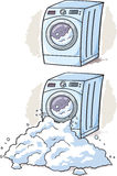 Washing Machine cartoon. Cartoon of a overflowing washing machine Stock Image