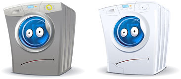 Washing machine character Royalty Free Stock Photos