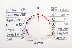 Washing machine control Royalty Free Stock Photos