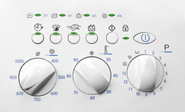 Washing machine control panel Royalty Free Stock Image