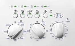 Washing machine control panel Royalty Free Stock Image