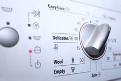 Washing machine with control panel Royalty Free Stock Photos