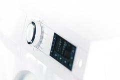 Washing machine control panel detail Stock Photography