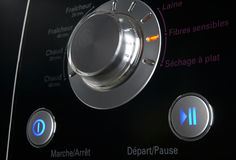 Washing machine control pannel Royalty Free Stock Photography
