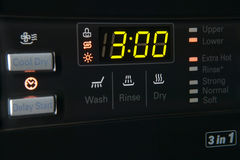 Washing machine control pannel Stock Photos
