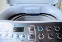 Washing Machine Controls Stock Image
