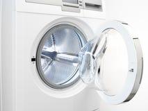 Washing machine detail. Shows inside and metallic drum Royalty Free Stock Photos