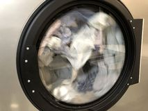 Washing machine drum detail stock photo