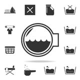 Washing machine drum icon. Detailed set of laundry icons. Premium quality graphic design. One of the collection icons for websites. Web design, mobile app on Stock Images
