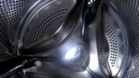 Washing machine drum inside. Close up stock footage